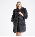 Fur coat from a polar fox a transformer dark gray 3/4