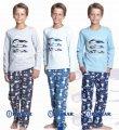 Пижама для мальчика 3 машины Baykar, синий и тёмно-синий, 134, 9, 134 см