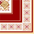 Салфетка ТМ Luxy 33х33 см, 3 слоя, 20 шт. Верона красная 4820012346301