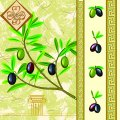 Салфетка ТМ Luxy 33х33 см, 3 слоя, 20 шт. Греческая оливка 4820164963845