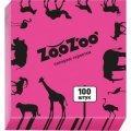 Салфетка столовая ZooZoo 24*24 100шт розовые 1/54