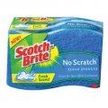 Спонж губка для посуды универсальная для средней нагрузки 3M™ Scotch-Brite™ Non-Scratch Scrub Sponge один спонж 4.4x2.6x0.9111ммх66ммХ22мм