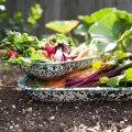 Хлебная тарелка большая, красный мрамор LG Roasting Pan Red Marble