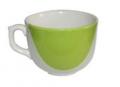 Чашка Аппетитка капля бело-зелёная