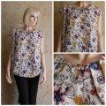 Блуза белая с растительным узором, арт. N4048