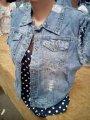 Джинсовая жилетка женская 50