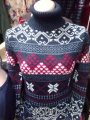 The sweater is female knitted