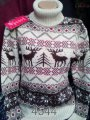 Sweater with an ornament deer