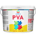 The PVA all-purpose adhesive for internal works the Class of moisture resistance of D2 (EN 204 standard) Eskaro PVA Liim 10 of l