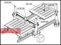 Установка для правки люков полувагонов УПЛП-100