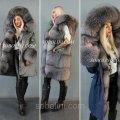 MEGA abrupt the park with fur blyufrost and two types of top: jeans and raincoat fabric