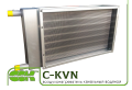 Нагреватель воздуха водяной для канальной вентиляции C-KVN-50-25-3