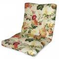 Матрас на кресло Кедр на Ливане Уют маленький серия Simple flowers 80x50x7 см Бежевый (1081)