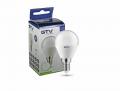 Светодиодная LED лампа GTV, 8W, 3000K, E14, G45, шарик. LD-SMGB45B-80-E