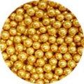 Сахарные жемчужины золотые 5 мм
