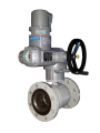 The crane sharovy with a reducer and the EFAR (EFAWA) WK electric drive 6va DN100 + SQEX10.2F10 for a car of gas, LPG, propane-butane, GNS, AGZS the valve flange full bore