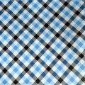 Скатерть ПВХ 100х140см Клетка черно голубая GUVEN LUX НТМ