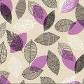 Клеенка настольная прозрачная силикон ПВХ 1.37х30м Полевые цветы НТМоцветные листья НТМ