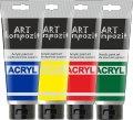 Акриловая краска художественная Art Kompozit 75 мл 017 серебро светлое