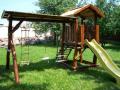Детские площадки из дерева,детские домики,горки детские