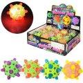 Мяч детский MS 0741, 144шт, резина, 7 см, в пакете, свет, Микс цветов, на бат-ке, 12шт в дисплее, 26-19-7см