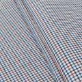 Ткань сорочечная Лен Красно-Синий