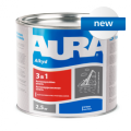 Грунт-эмаль антикоррозионная алкидно-уретановая AURA «3 в 1»