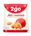 2go croissant cu căpșuni de umplere 0,18 kg