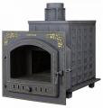 Дровяная печь-камин для бани Гефест ПБ-02П