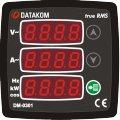 DATAKOM DM-0301 Мультиметр, 170-275V питание, 1 фаза, 72x72mm, 3 дисплея