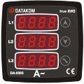 DATAKOM DA-0303 Амперметр, 170-275V питание, 3 фазы, 72x72мм, 3 дисплея