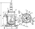 Аппарат c перемешивающим устройством цельносварный с эллиптическими днищем и крышкой, с рубашкой из полутруб