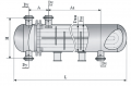 Теплообменный аппарат повышенной тепловой эффективности с плавающей головкой и U-образными трубами диаметр кожуха 325, 426, 530 и 630 мм