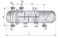 Теплообменный аппарат повышенной тепловой эффективности с плавающей головкой и U-образными трубами диаметр кожуха 800 и 1000 мм