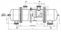 Термосильфонный испаритель с неподвижными трубными решетками и температурным компенсатором на кожухе