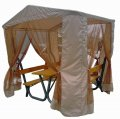 Садовый стол с лавками и навесом, беседка RTB-1FT Rud