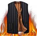 Мужской флисовый жилет с искусственным мехом.