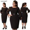Модное элегантное платье с поясомбольших размеров.