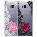 Черный белый цветок для Samsung Galaxy S5 S6 S7Edge S8 плюс A3 A5 J1 J2 J3 J5 J7 2015 2016 2017 Grand Prime