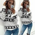 Вязаные модные женские трикотажные свитера-(Рождество)