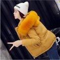 Для женщин мягкая, короткая куртка парка с капюшоном с меховым воротником.