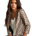 Куртки-(бомбер )с золотыми блестками для женщин.