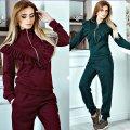 Велюровый-бархатный костюм для женщин
