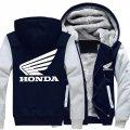 Мотоциклетные зимние, кашемировые, толстые, теплые толстовки с капюшоном-(Honda)