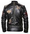 Мотоциклетная байкерская куртка для мужчин из натуральной телячьей кожи.