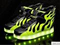 Спортивная светящаяся обувь-(shark).