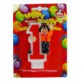 Candles figures with a clown figure 0-9