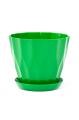 Горшок Карат с подставкой, зелёный, d160mm