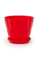 Горшок Карат с подставкой, красный, d160mm