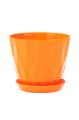 Горшок Карат с подставкой, оранжевый, d190mm